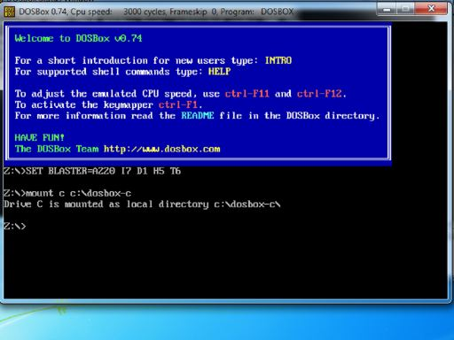 Getting started with DOSBox
